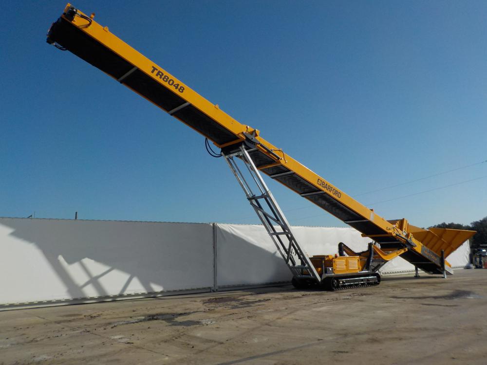 barford conveyor on a building site