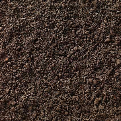 Screened topsoil pile