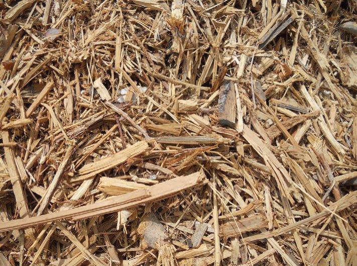 一堆待加工的木屑