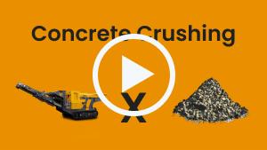 Crushing concrete