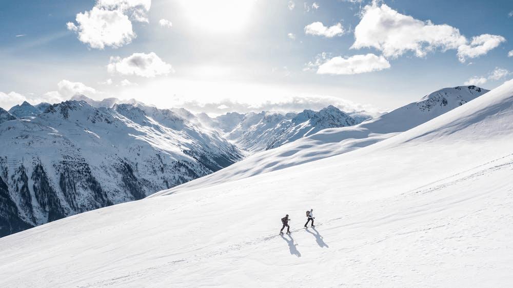 Skifahren im Gebiet der 4 Täler in der Schweiz