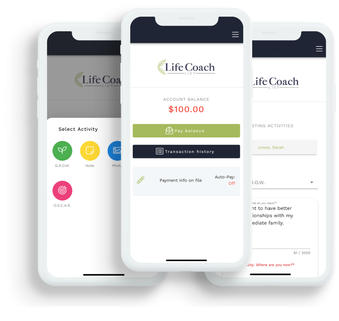 App for Life Coach Clients