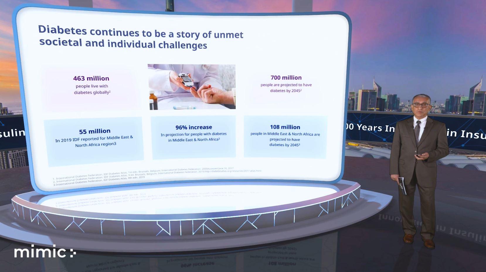 virtual stage interactive presentation mimic green screen speaker powerpoint