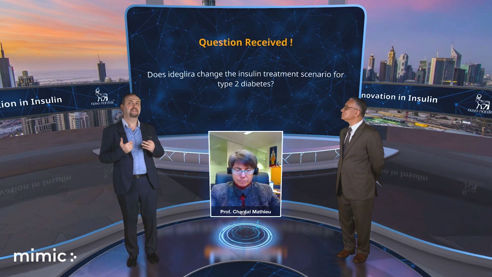 virtual stage interactive presentation mimic two green screen hosts