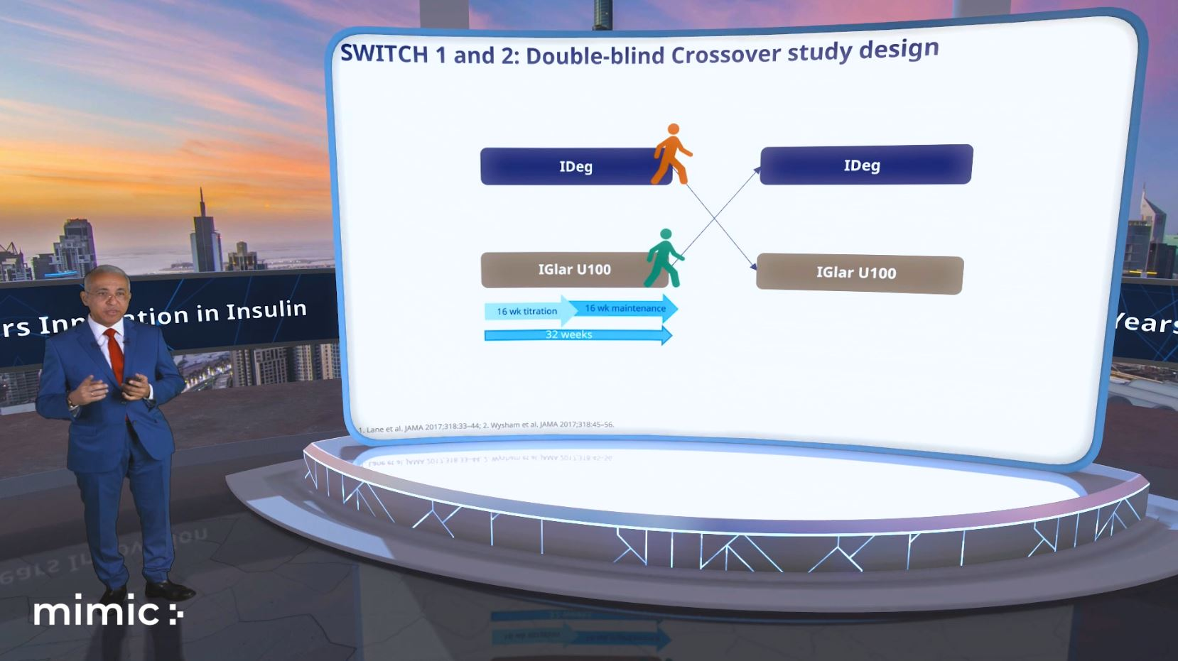 virtual stage interactive presentation mimic green screen host