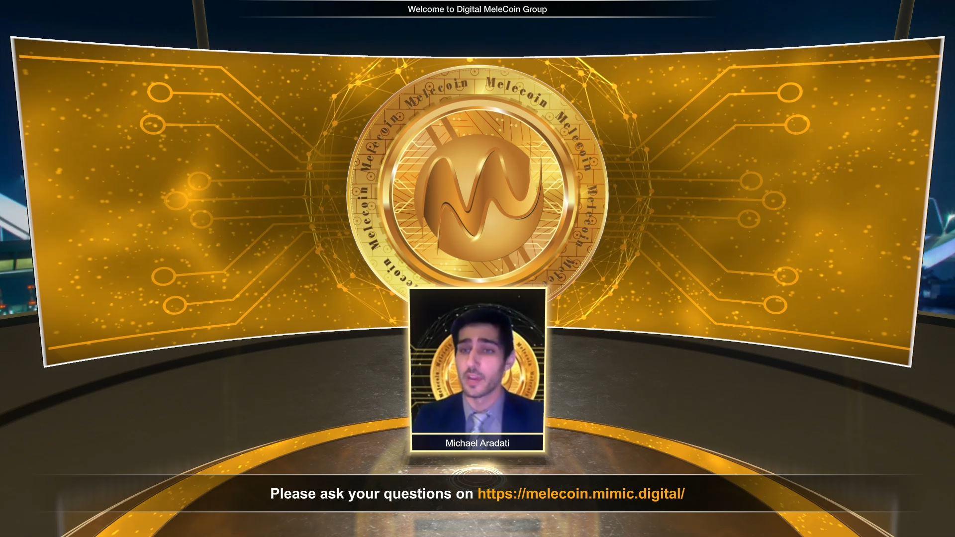 melecoin blockchain technology virtual event virtual host