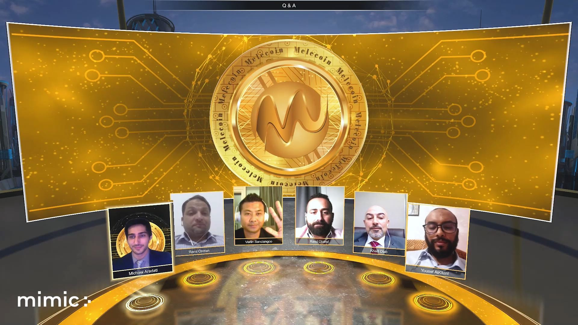 melecoin blockchain technology virtual event panel discussion