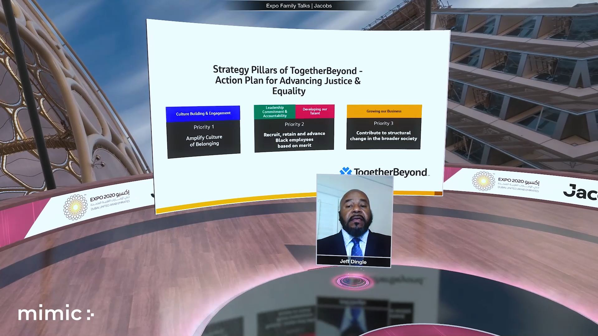 Expo 2020 Virtual event powered by mimic stage and eventagrate keynote speaker