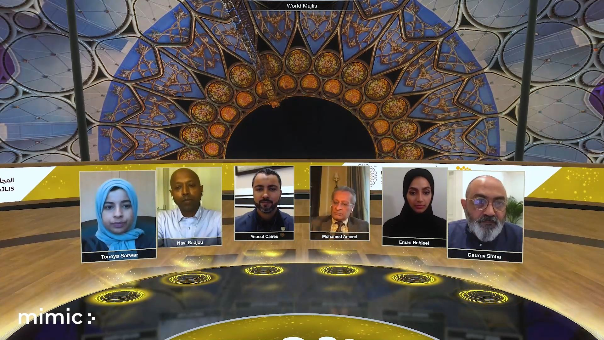 Expo 2020 Virtual event powered by mimic stage and eventagrate - main session panel discussion