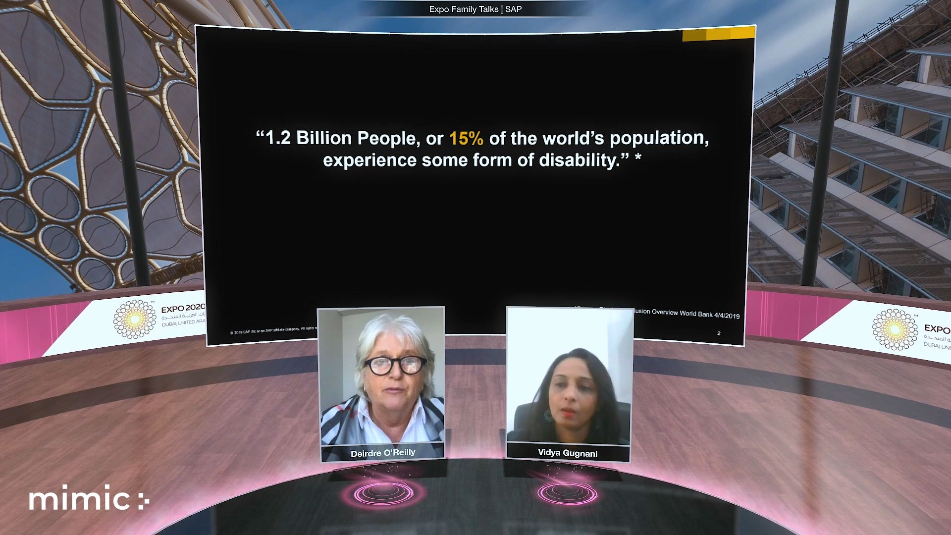 Expo 2020 tolerance and inclusivity Virtual event two virtual speakers