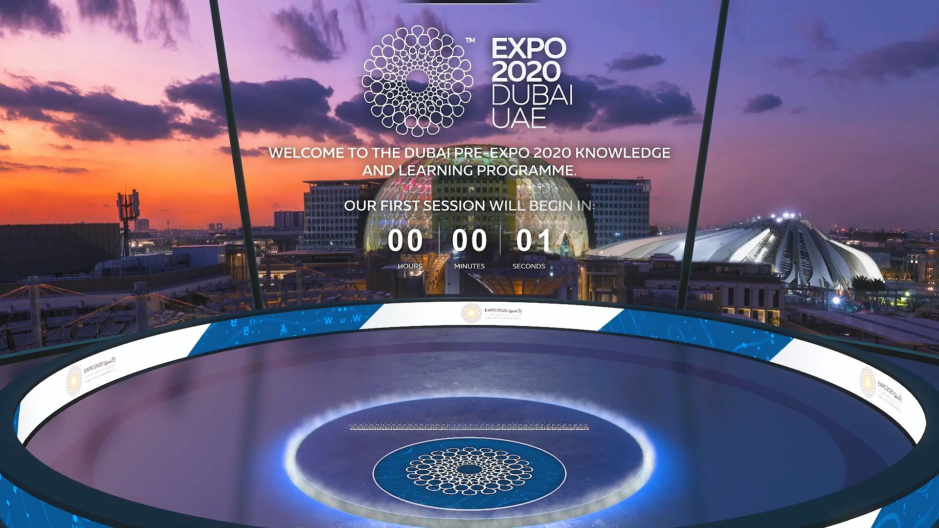 expo 2020 knowledge and learning week virtual event countdown