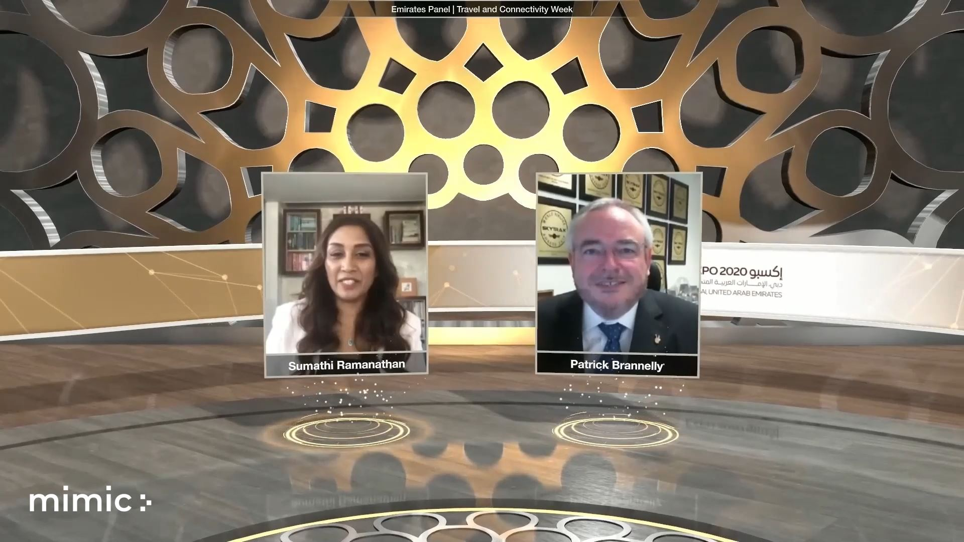 expo 2020 travel and connectivity week virtual event two speakers