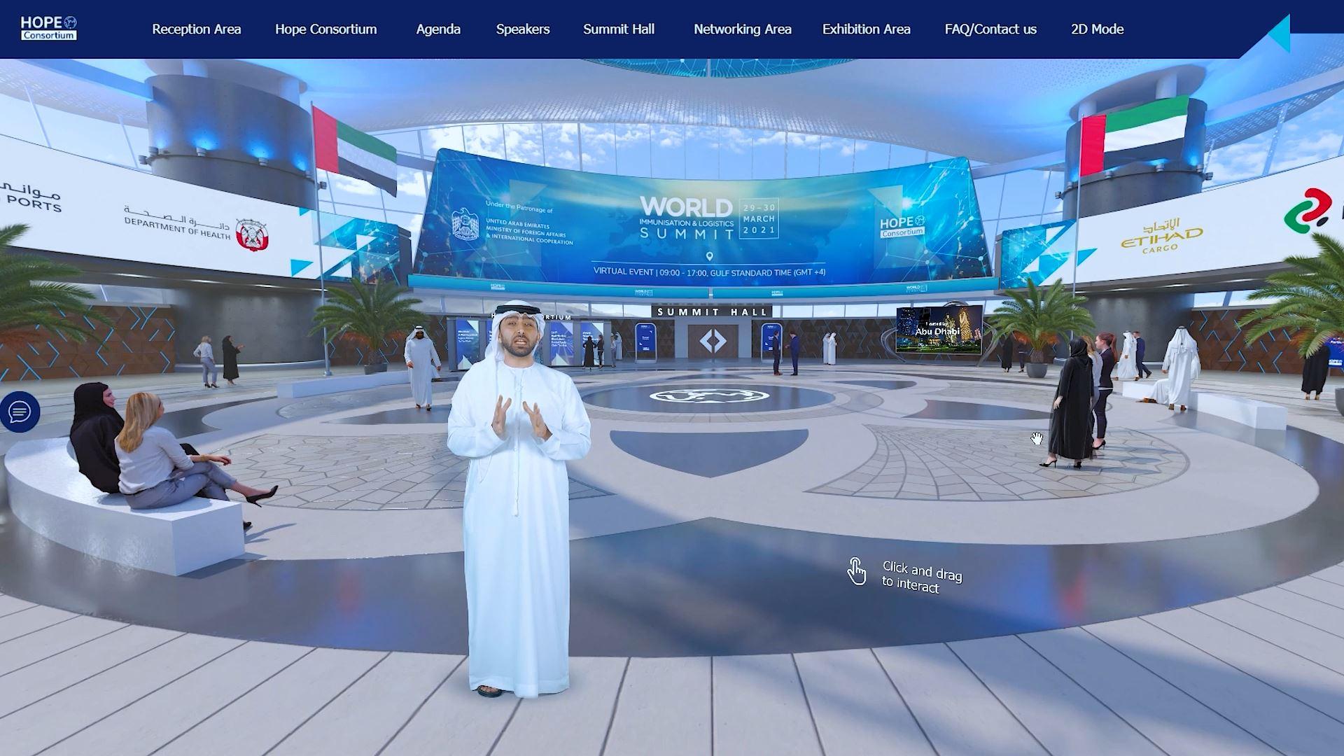 hope consortium world immunization and logistics summit virtual exhibition virtual assistant