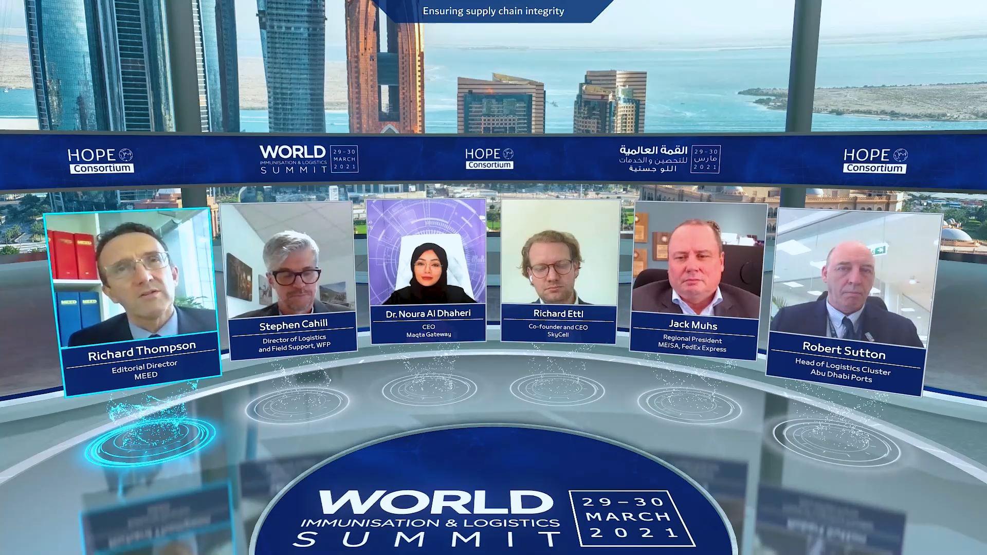 hope consortium world immunization and logistics summit virtual exhibition panel discussion
