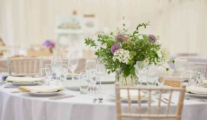 wedding planning table layout