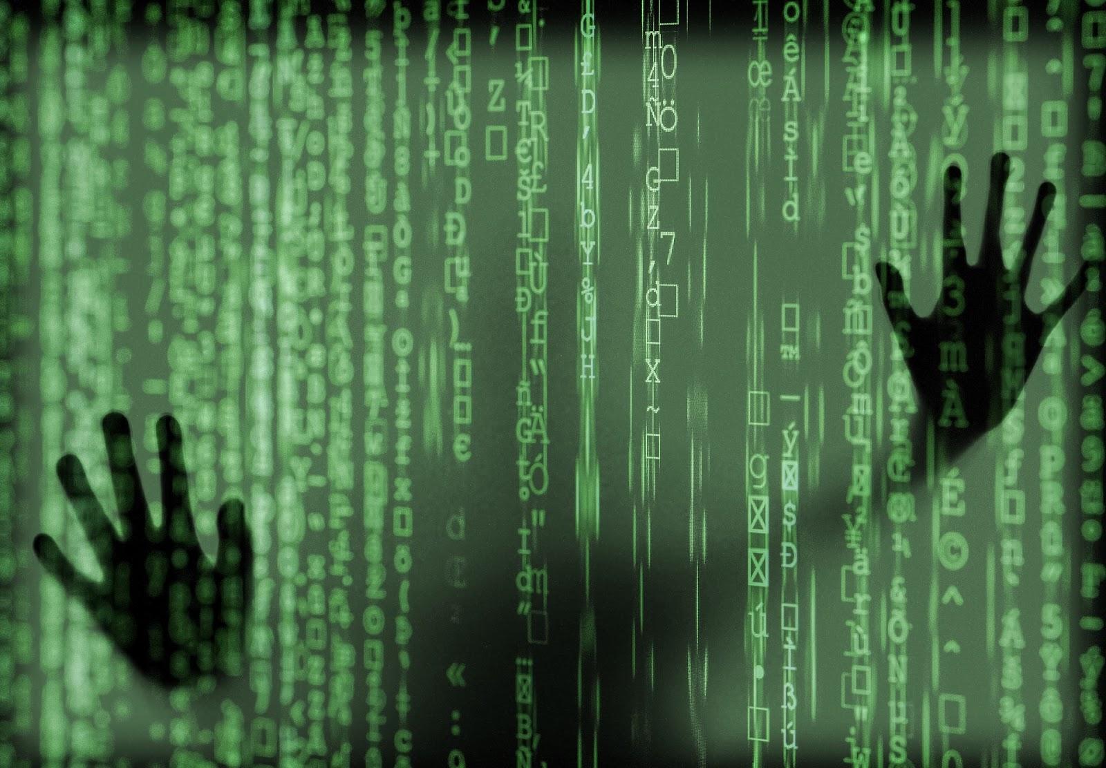 hacker in virtual cage
