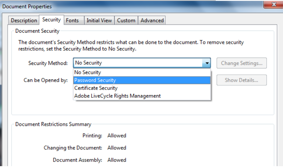 screen of security lab to encrypted PDF file