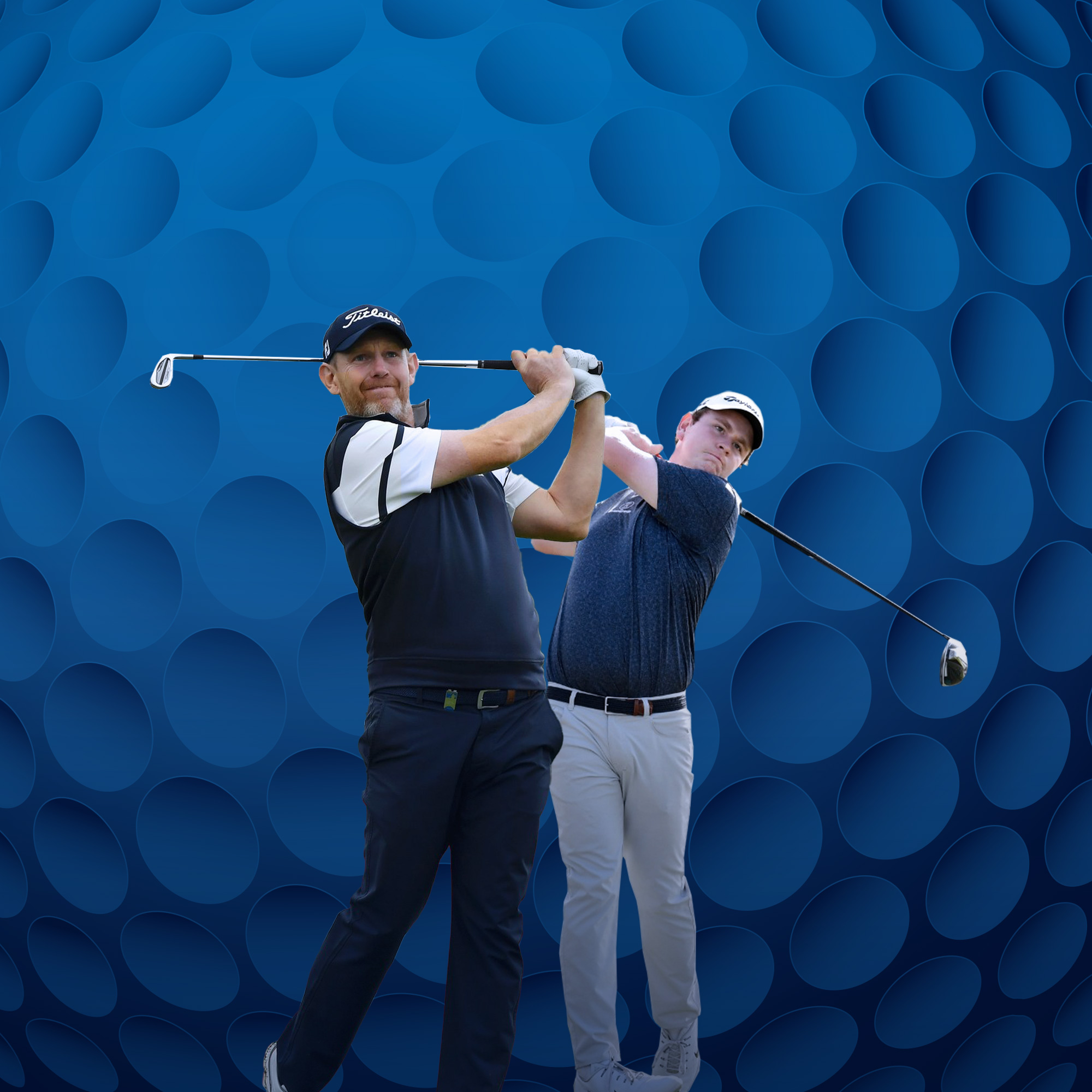 Bob Macintyre and Stephen Gallacher in action