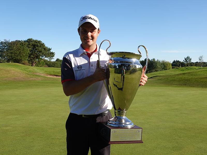 Jack MacDonald with winning trophy