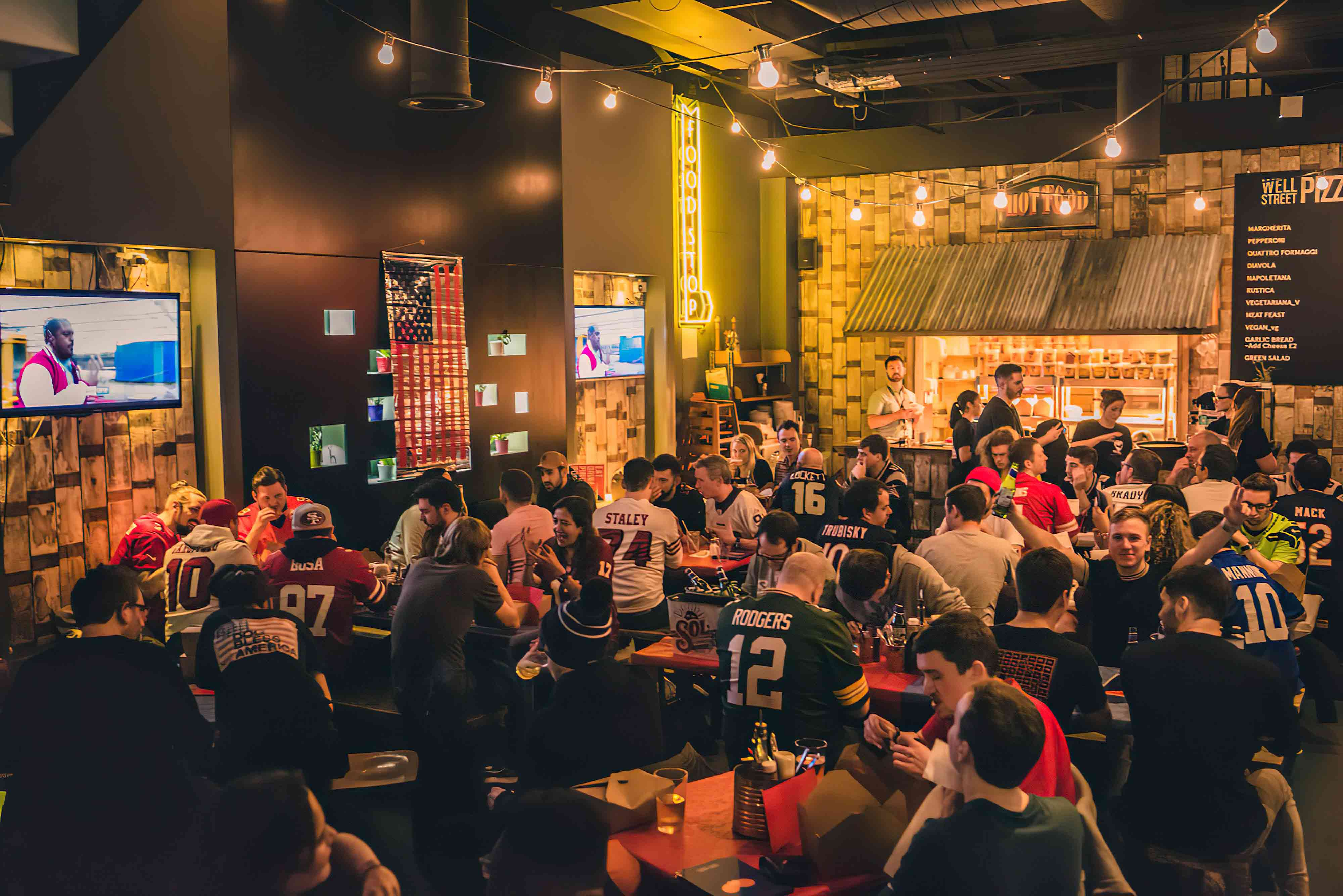 The best place to watch live sports like football, rugby, NFL and boxing.