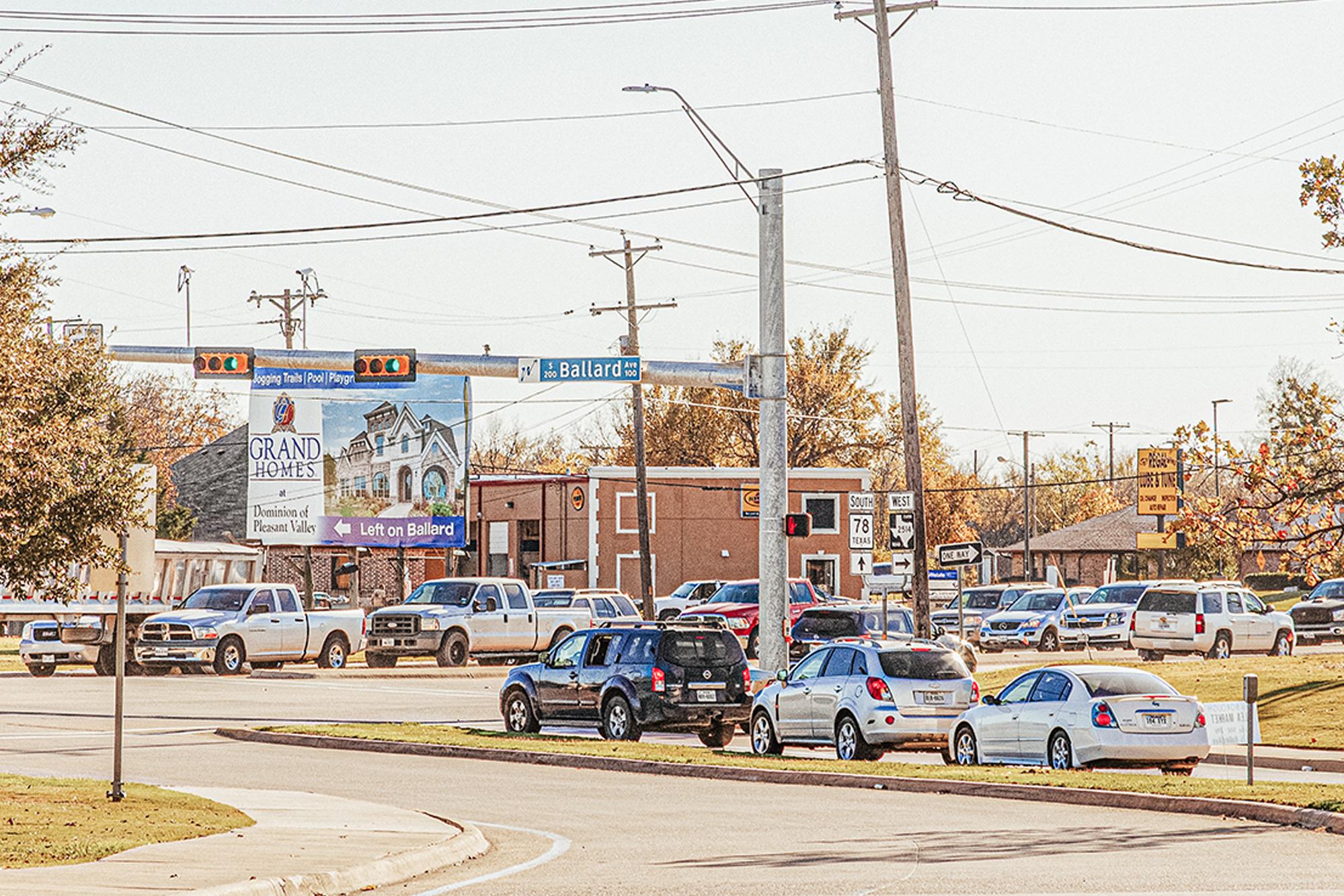 Stoplight in Collin County TX