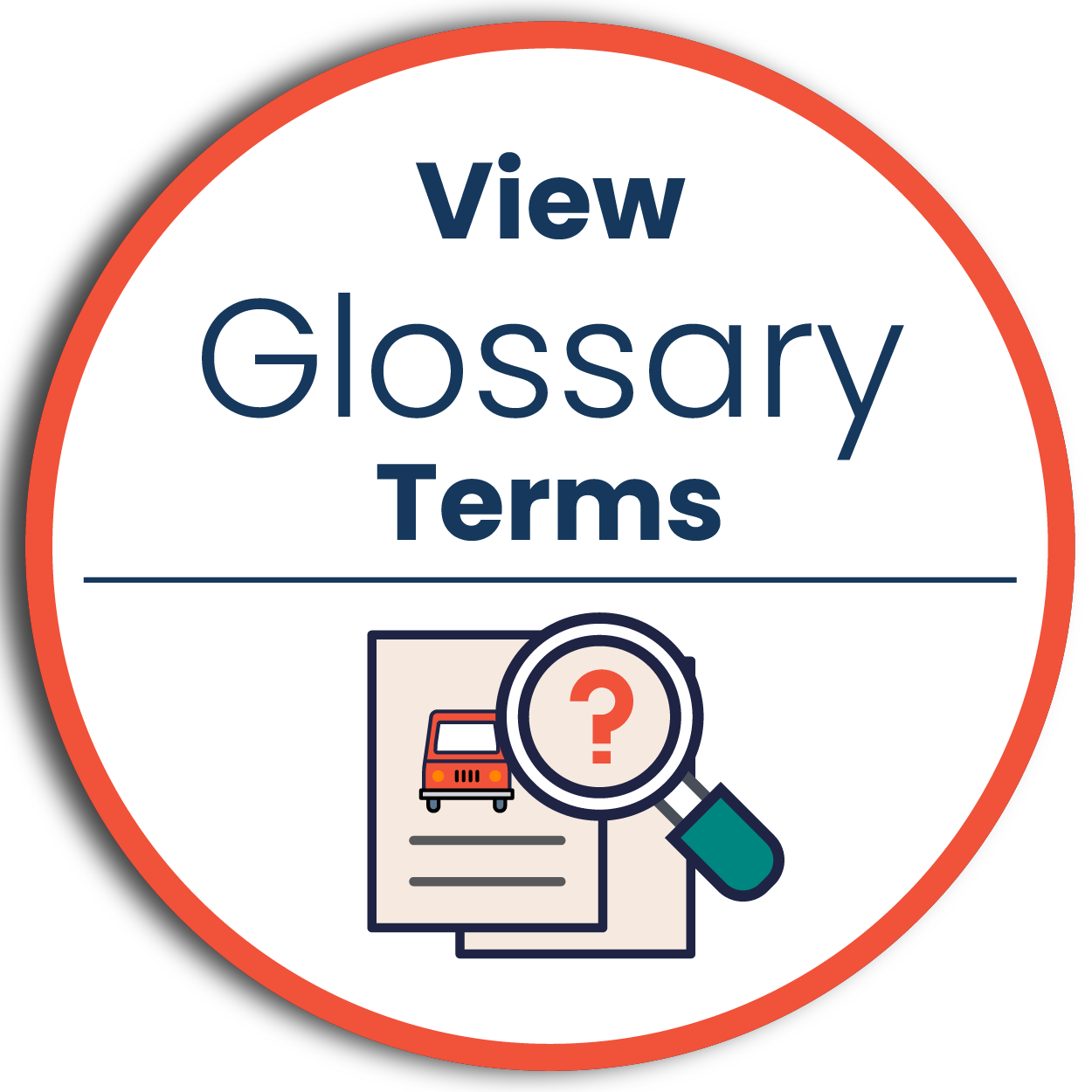 Glossary terms icon - click to view project study terms