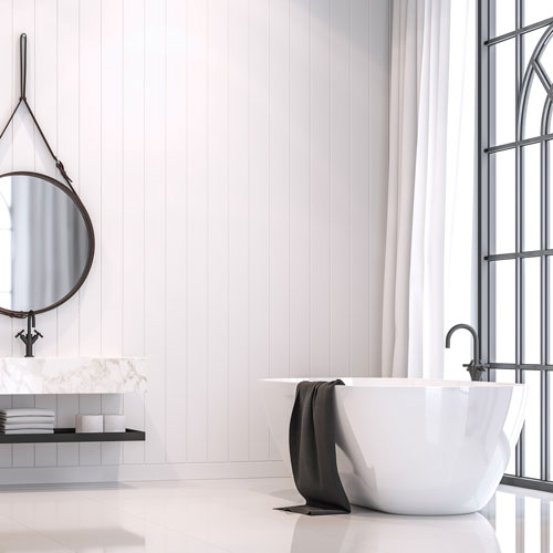A clean and beautiful bathroom.