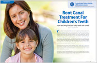 Children's Root Canal Treatment