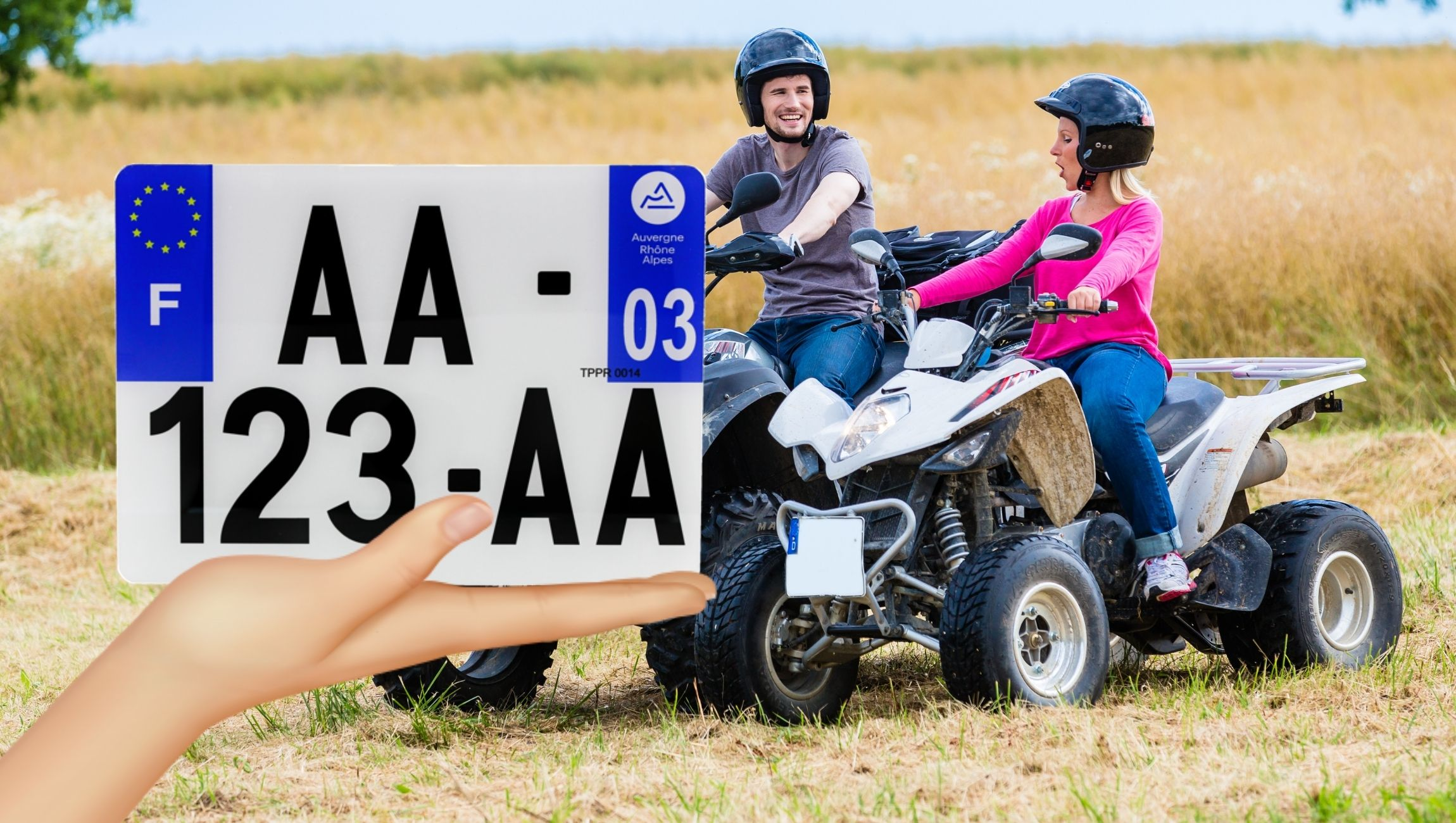 Plaque d'immatriculation pour quad