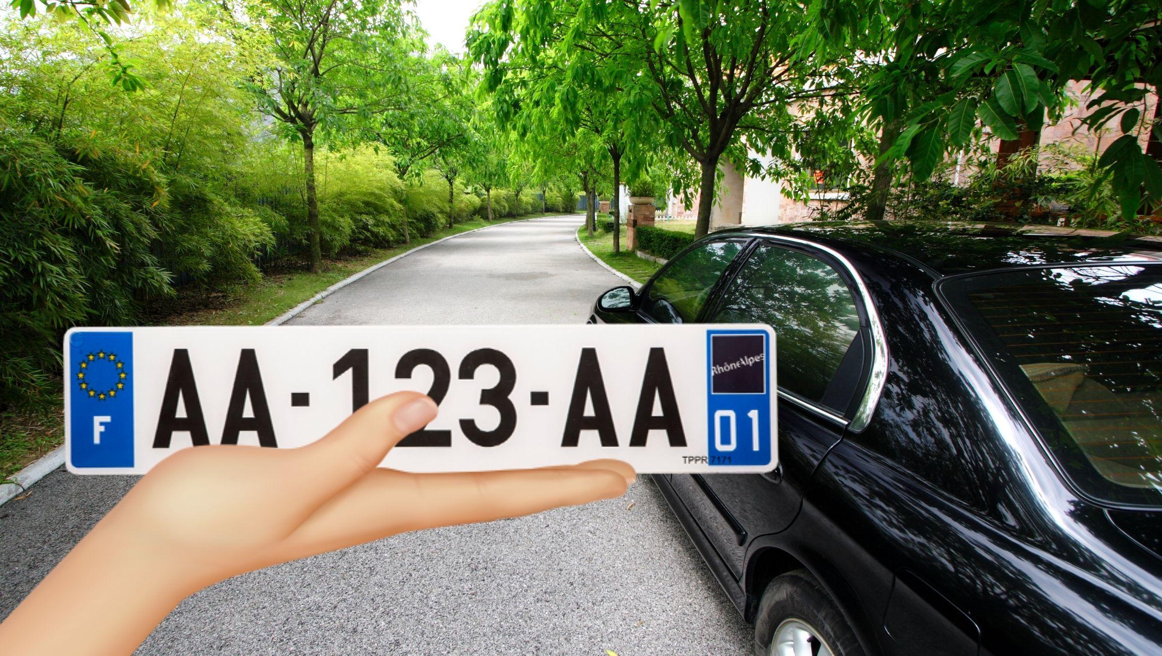 Plaque d'immatriculation pour voiture