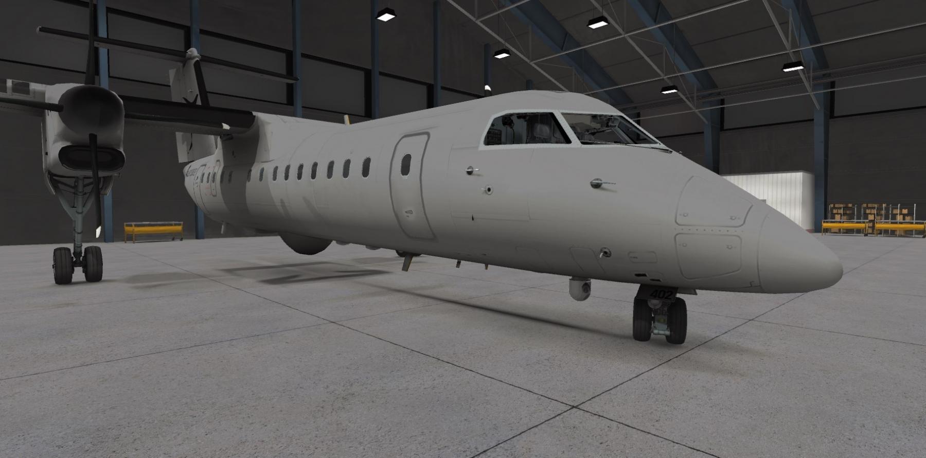 Airplane model shown in VR using Xplorer