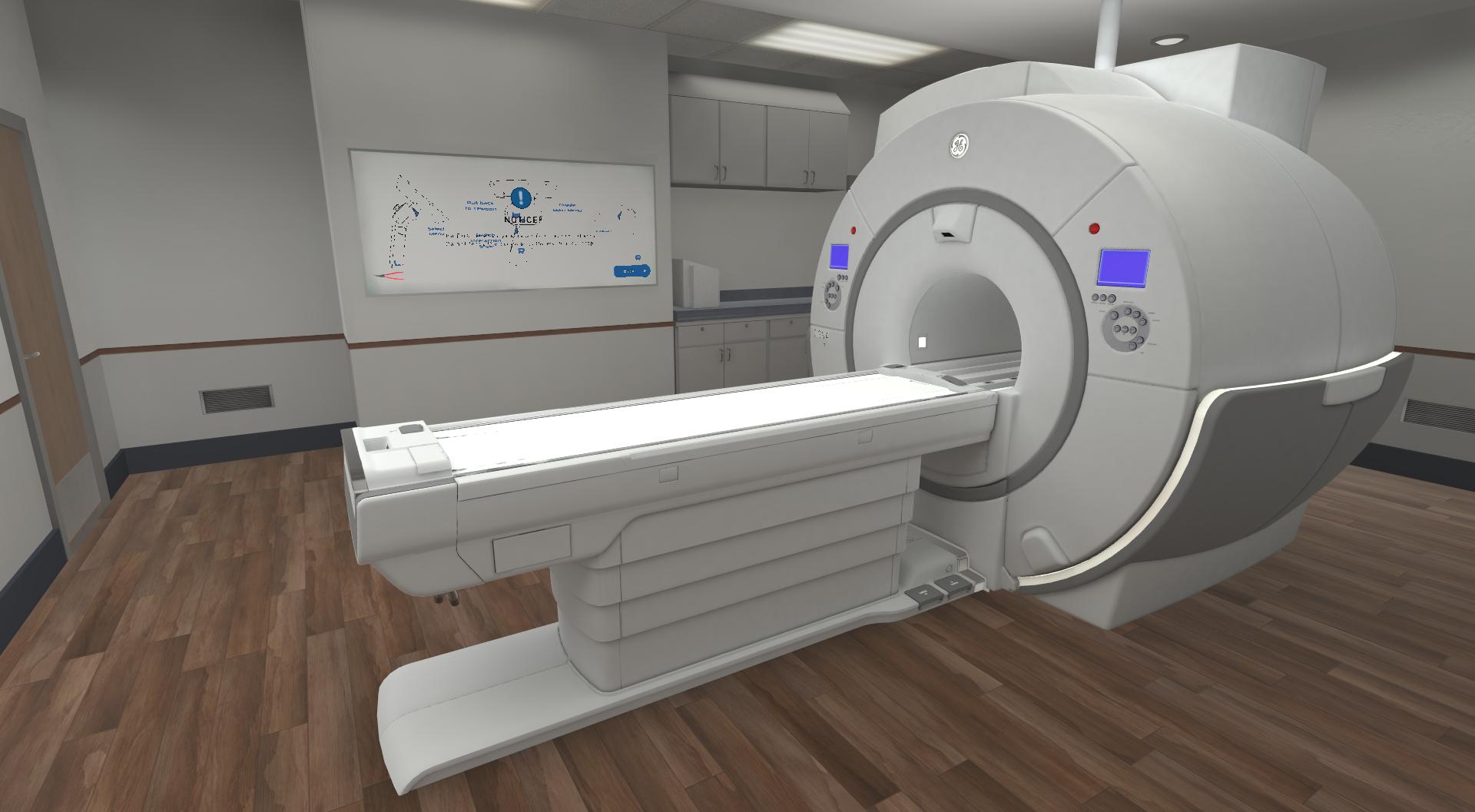 a CT Scan machine shown in virtual reality using Xplorer