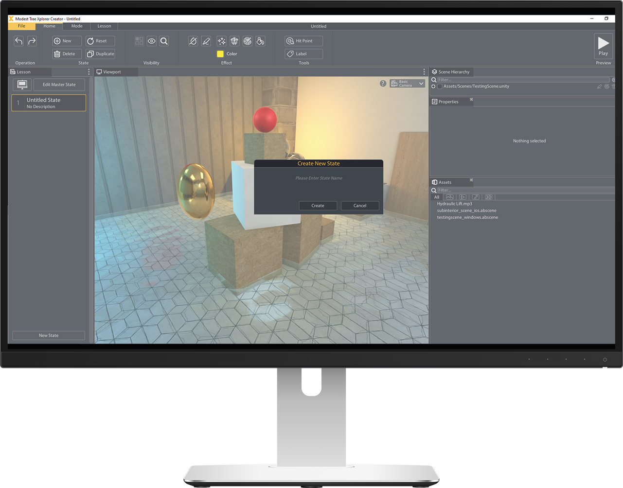 Computer Monitor showing Xplorer