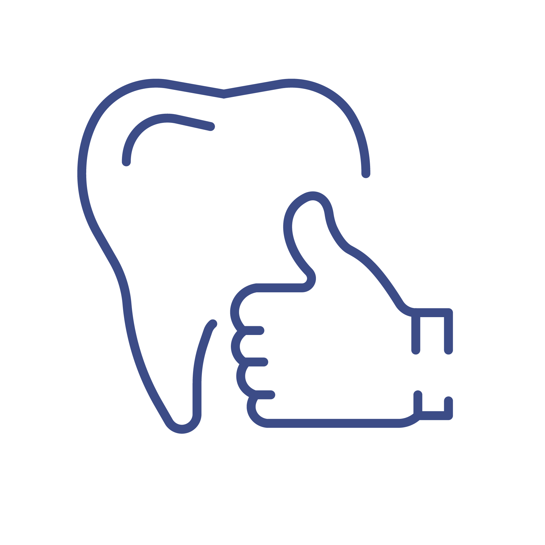 tooth and thumbs up icon