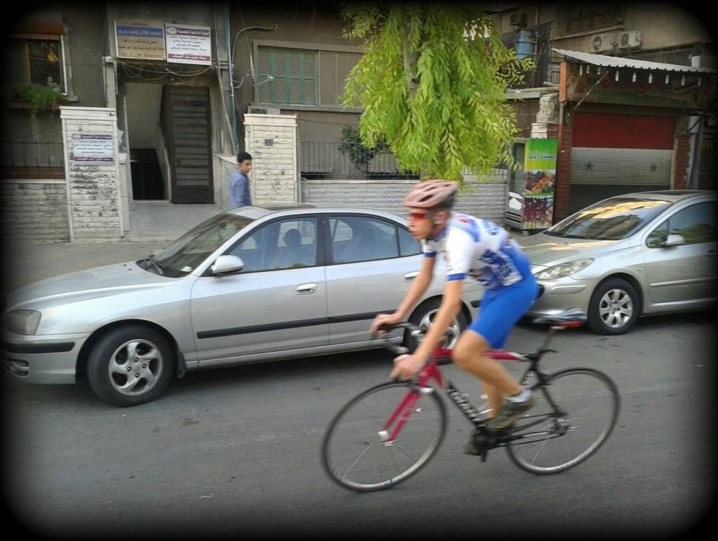 Ammar Kamel beim Training in Damaskus