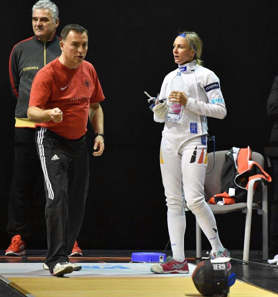 Monika Sozanka im Training