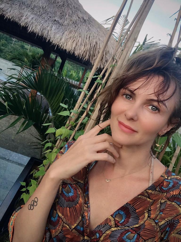 Monika Sozanka - Fechterin aus Deutschland auf Bali