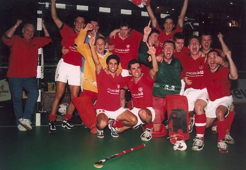 2001 wurde das Team um Nils Kowalczek Deutscher Meister im Hallenhockey