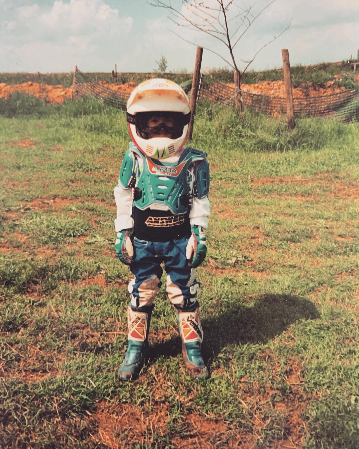 Schon sehr früh entdeckte Kim die Leidenschaft für Motocross.