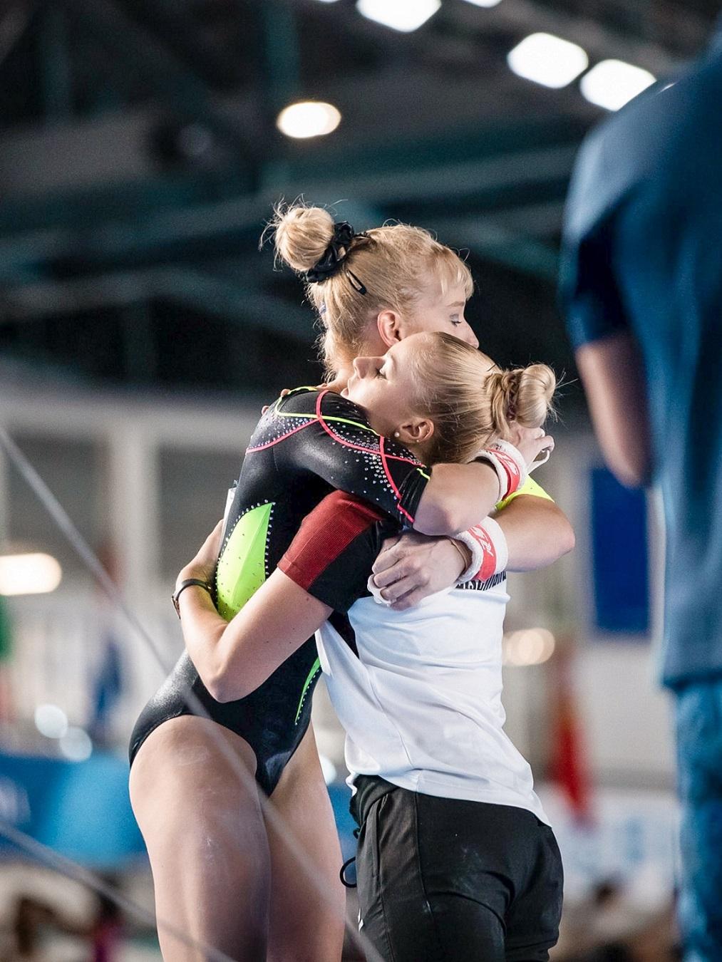 Janine 2019 bei der Universiade in Neapel / Foto: Arndt Falter