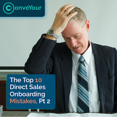 thumbnail of onboarding mistakes video with a frustrated sales manager who realized he made an onboarding mistake