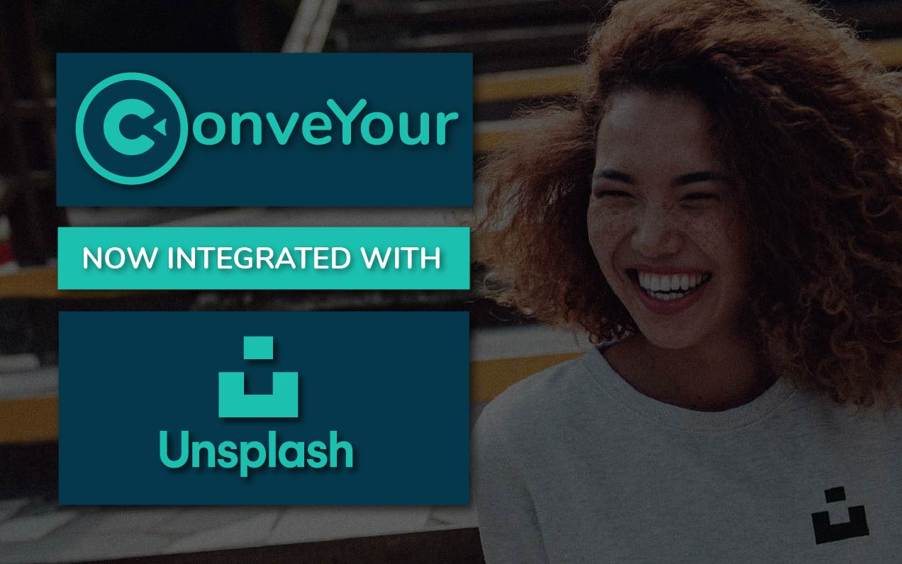 banner of a happy person using unsplash integration