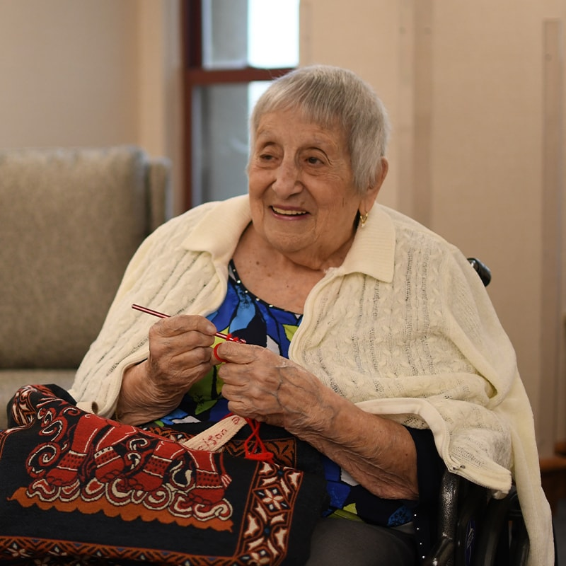 Woman doing Crochet