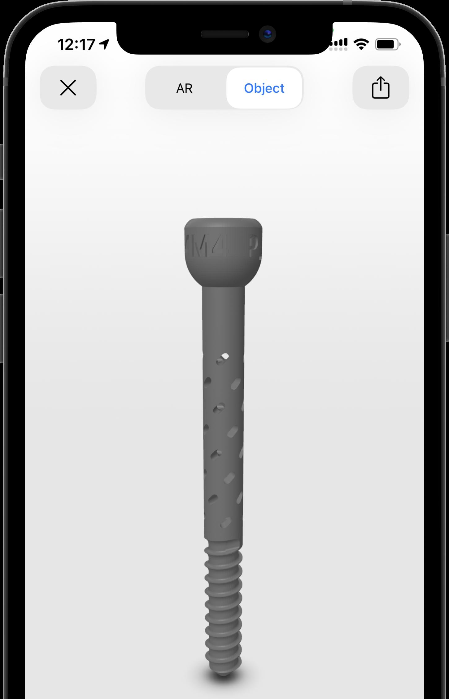 Therasys Bone Screw in iPhone