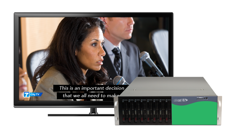 Integrated Closed Captioning Comes to Cablecast Automation