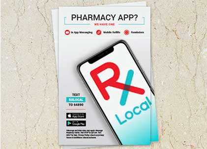 Image of RxLocal advertising for downloading the app