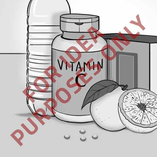 Image of vitamins on counter for DIY post example