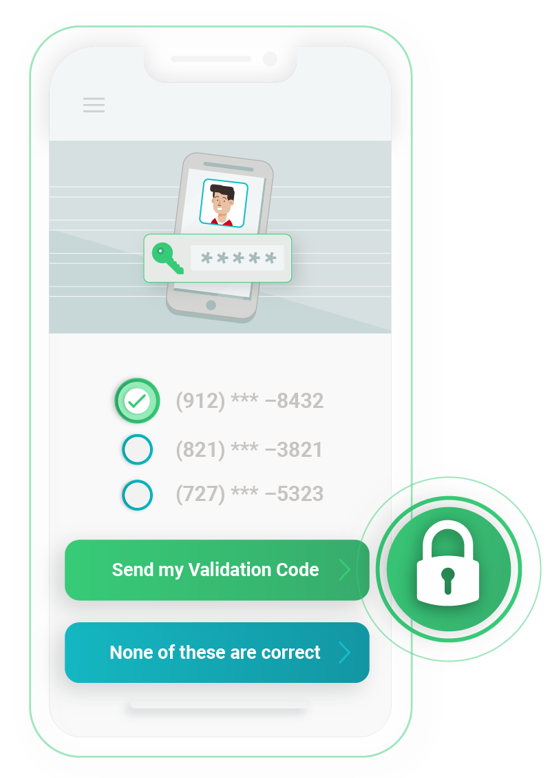 Illustration of security step on RxLocal mobile app.