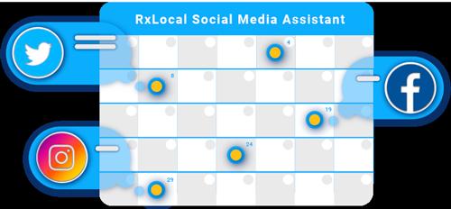 Social media monthly post calendar