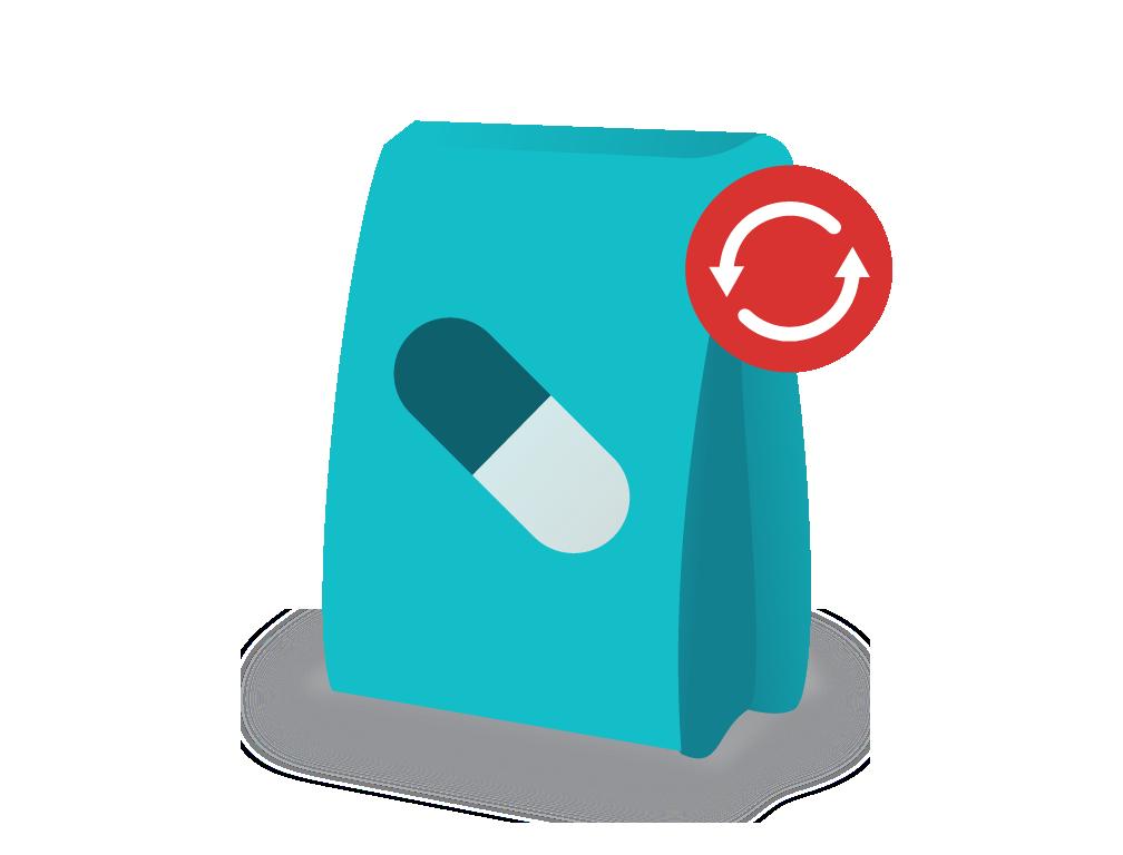 Illustration of prescription bag